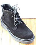 Черевики жіночі замшеві чорні туфлі на низькому каблуці від виробника модель СК103-1, фото 2