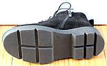 Черевики жіночі замшеві чорні туфлі на низькому каблуці від виробника модель СК103-1, фото 4