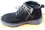 Черевики жіночі замшеві чорні туфлі на низькому каблуці від виробника модель СК103-1, фото 3