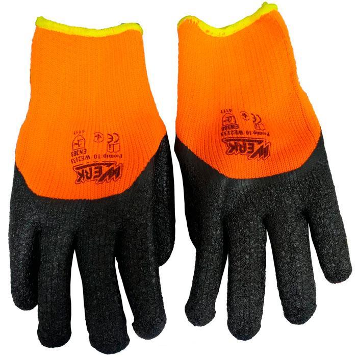 Перчатки рабочие трикотажные усиленные с латексным покрытием Werk WE2133H (81641)