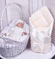 Демисезонный комплект одежды для новорожденных Стиль молочный