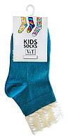 Носки детские Kids Socks V&T comfort ШДУг 024-0463 Ретротон р.16-18 Бирюзовый