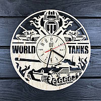 Концептуальные настенные часы из дерева «World of Tanks», фото 1