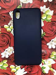 Чехол для Xiaomi Redmi 7A бампер / накладка цветной силиконовый матовый синий