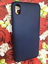 Чехол для Xiaomi Redmi 7A бампер / накладка цветной силиконовый матовый синий, фото 3