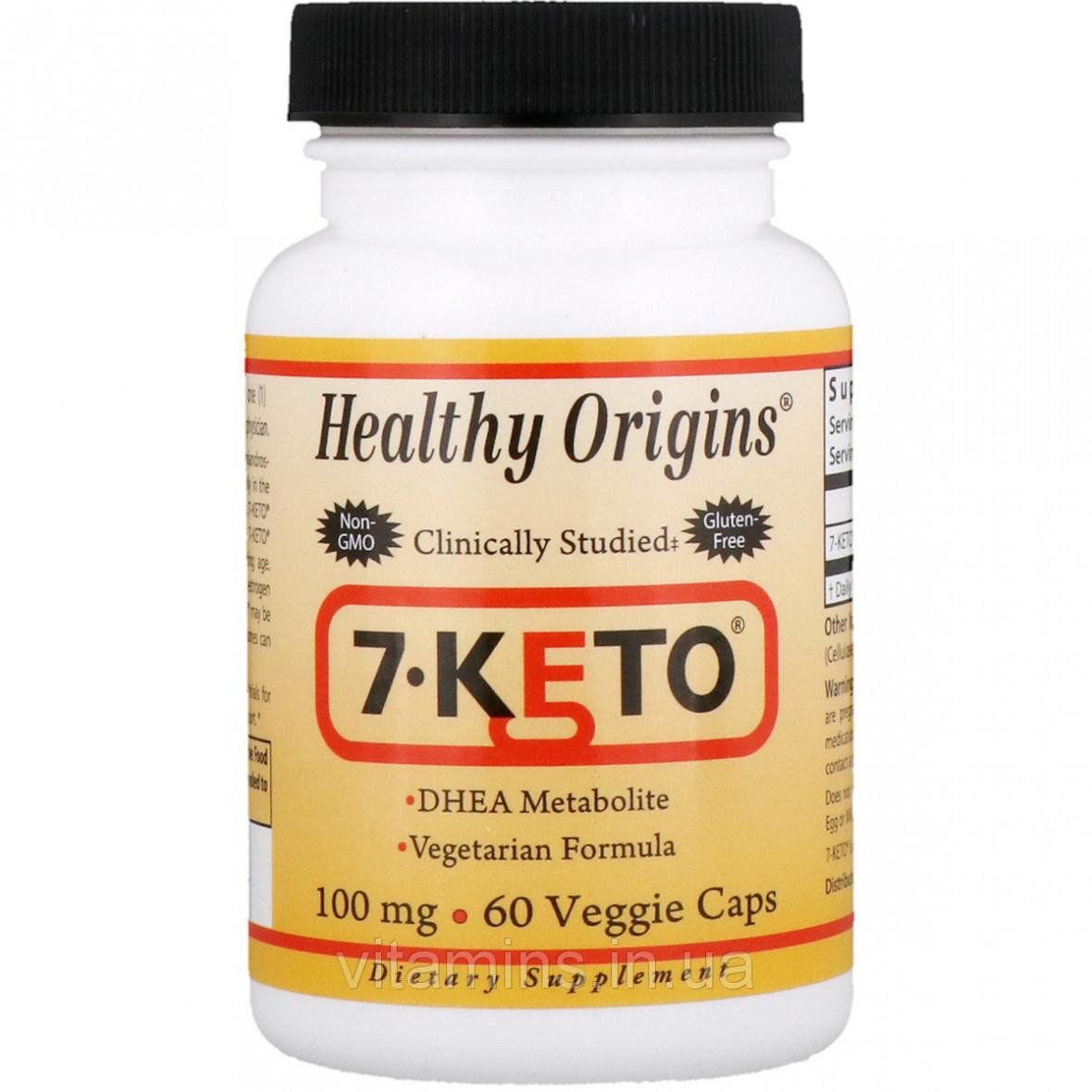 7-Кето, Healthy Origins, 100 мг, 60 капсул