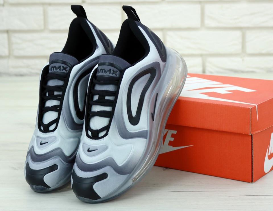 Мужские кроссовки Nike Air Max 720 демисезонные из текстиля стильные найки серого цвета,  ТОП-реплика