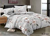 Полуторный комплект постельного белья ТМ TAG ранфорс / комплект постільної білизни