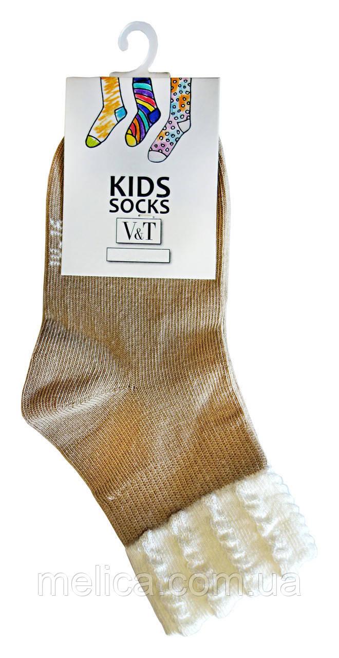 Носки детские Kids Socks V&T comfort ШДУг 024-0463 Ретротон р.20-22 Светло-бежевый