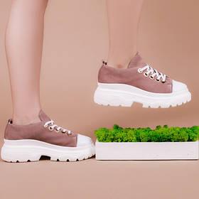 Модные женские кроссовки натуральная замша Размерный ряд 36-40