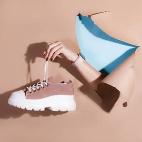 Модні жіночі кросівки натуральна замша Розмірний ряд 36-40, фото 2