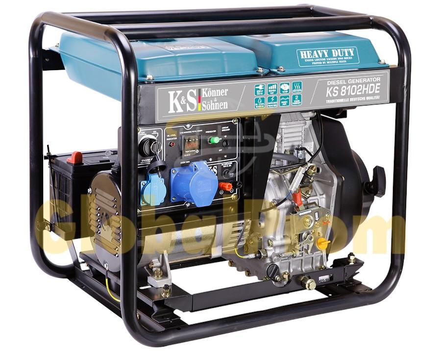 Дизельный генератор Könner & Söhnen KS 8102HDE (двигатель Euro II)