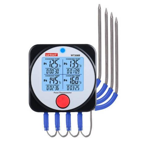 Термометр для м'яса, барбекю 4-х канальний Bluetooth, -40-300°C, фото 2