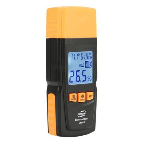 Вологомір деревини+термогігрометр 2-70% (28 порід, 4 типу), фото 2