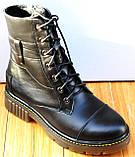 Мартинсы кожаные демисезонные женские от производителя модель СК107, фото 2