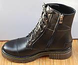 Мартинсы кожаные демисезонные женские от производителя модель СК107, фото 3
