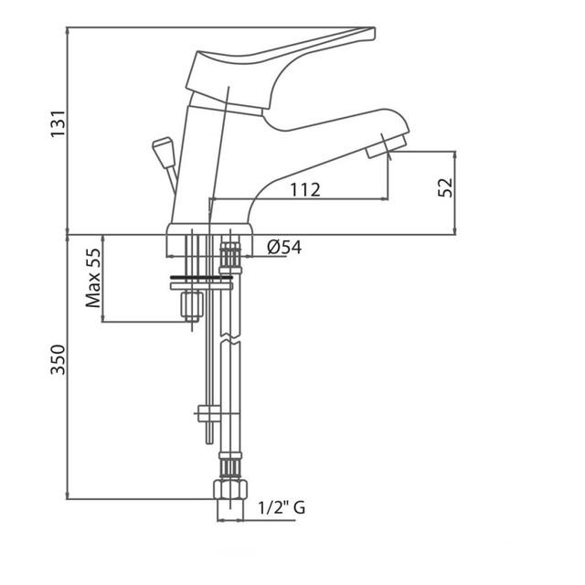 Змішувач для умивальника Bianchi Delta LVBSTR2002DLTSACRM