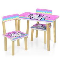 Детский столик и два стульчика 501-65 Единорог.