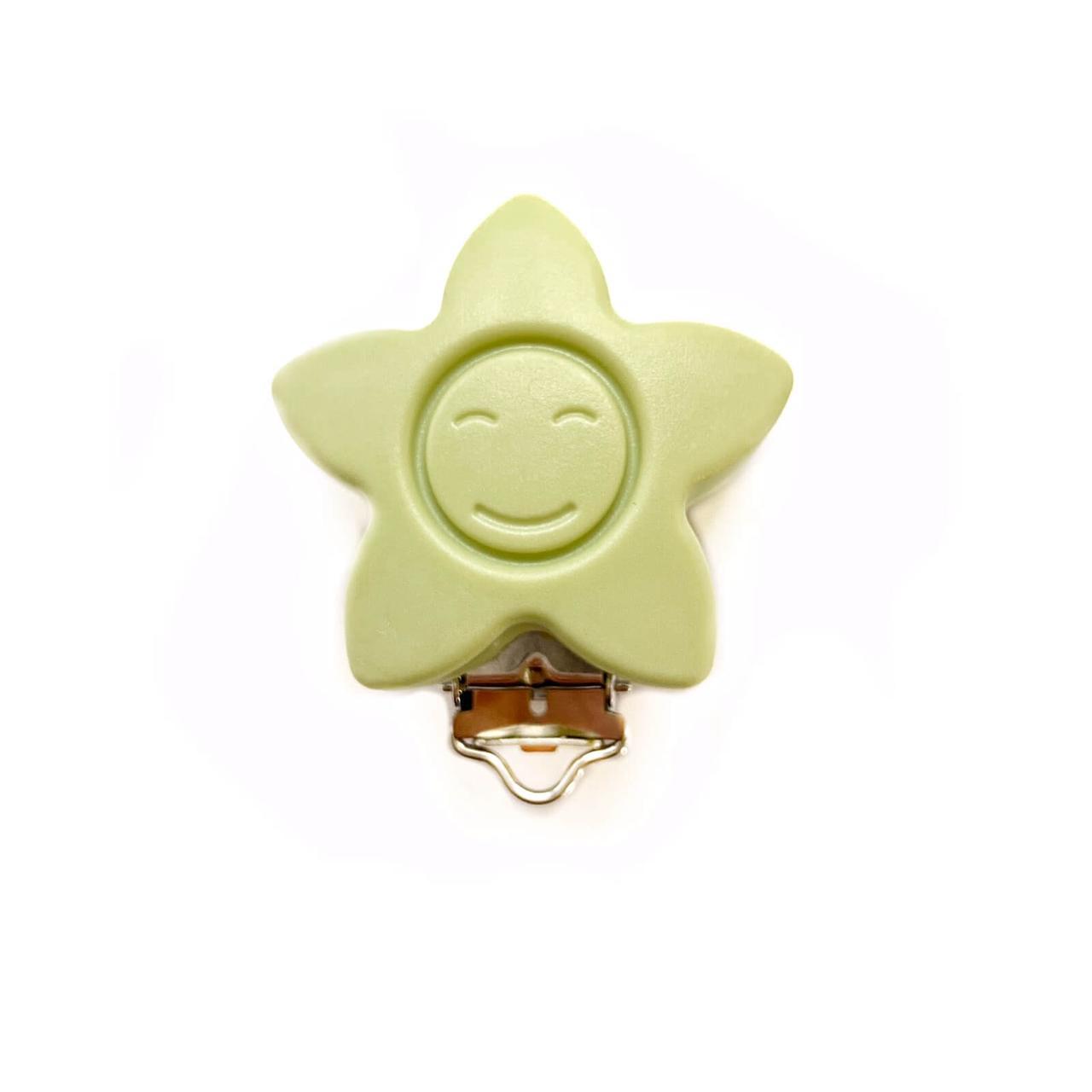 КЛИПСА звезда (Хаки) силиконовая для пустышки