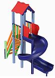 Детский комплекс Мини с пластиковой горкой Спираль, фото 2