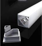 Угловой алюминиевый профиль вместе с рассеивателем 2м для LED ленты АЛ-05, фото 6