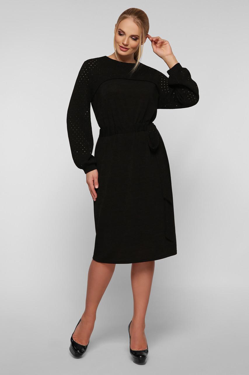 Вязаное платье Эмили черное