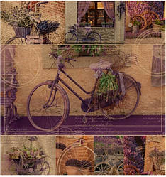 Подарочный бумажный пакет ЧАШКА 16*16*8 см Прованс