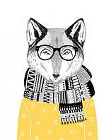 Настенный Постер в рамке Волк Заучка