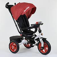 Велосипед 3-х колёсный Best Trike с поворотным сиденьем 9500 - 7750, складной руль, русское озвучивание, надувные колеса, свет