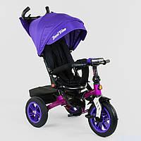 Велосипед 3-х колёсный Best Trike с поворотным сиденьем 9500 - 3046, складной руль, русское озвучивание, надувные колеса, свет