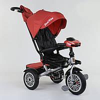 Велосипед 3-х колёсный Best Trike с поворотным сиденьем 9288 В - 3696, складной руль, русское озвучивание, надувные колеса, пульт включения света и