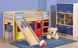 Кровать детская NEO PLUS с матрасом сосна Halmar