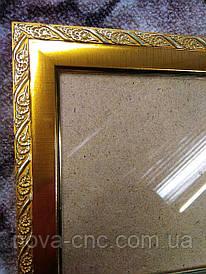 Рамка золото колосок 12,2 х 14 см