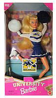 Колекційна лялька Барбі Черлідер Університет Barbie Michigan University Wolverines Cheerleader 1996 Mattel