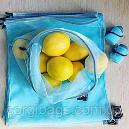 Многоразовый эко мешок для продуктов, эко-мешок, эко-торбинка,  торбочка,  размер М (27х30 см)