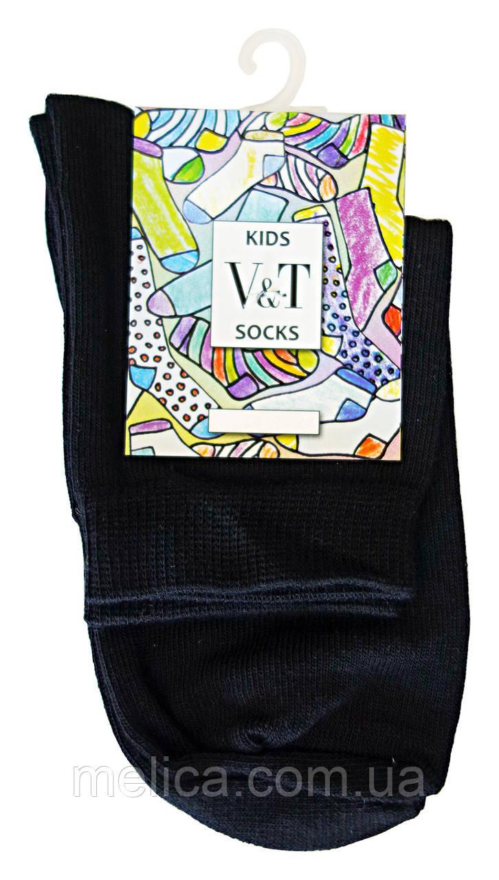 Носки детские Kids Socks V&T comfort ШДУг 024-0489 Однотонные Школьные р.16-18 Черный