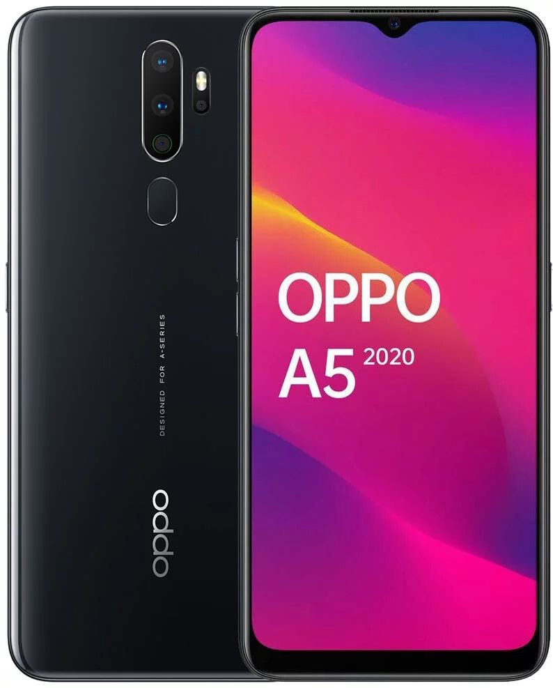 Смартфон OPPO A5 2020 3/64GB Mirror Black Гарантия 12 месяцев