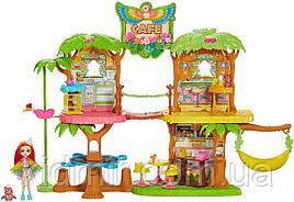Набор Enchantimals Джунгли-кафе с куклой Пикки Какаду GNC57