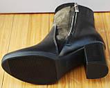 Ботинки женские черные демисезонные на каблуке от производителя модель СК109, фото 4