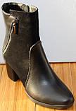 Ботинки женские черные демисезонные на каблуке от производителя модель СК109, фото 2