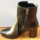 Ботинки женские черные демисезонные на каблуке от производителя модель СК109, фото 3