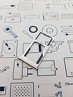 Держатель сим карты Meizu M3 Note L681H золото Сервисный оригинал с разборки