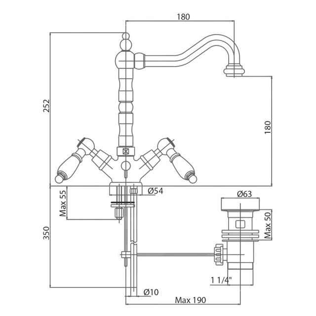 Змішувач для умивальника Bianchi First LVBFRS1036026IACRM