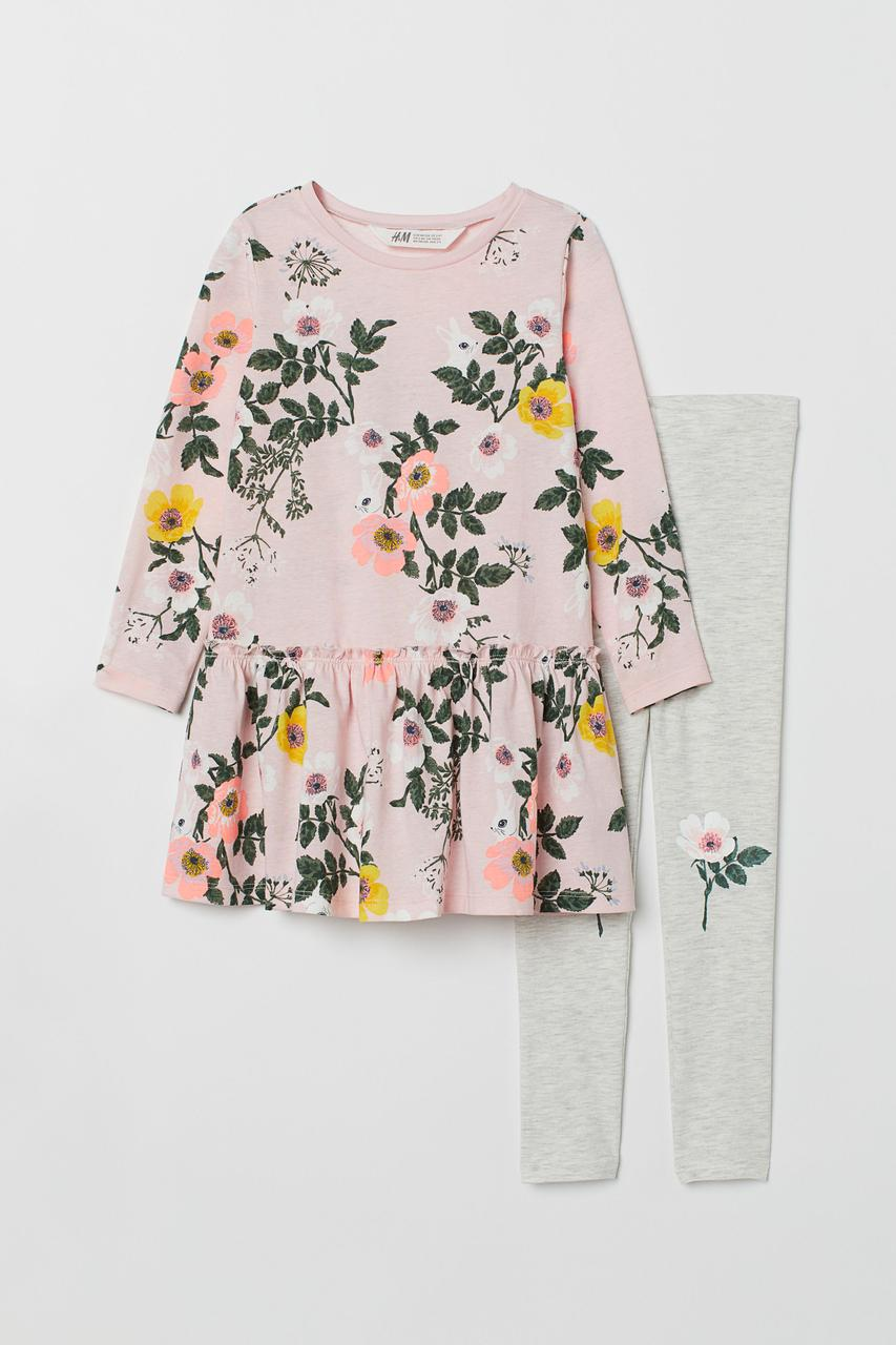 Комплект на девочку с принтом H&M Швеция Размер 134-140