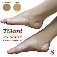 Лосины для художественной гимнастики Tuloni размер S (142-158) цвет Легкого Загара, T03992S