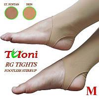 Лосины для художественной гимнастики без пятки Tuloni размер M (155-170) цвет Телесный, T03991M