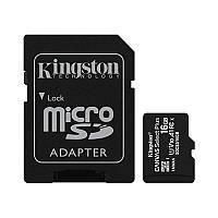 Карта памяти MicroSDHC 16GB UHS-I Class 10 Kingston Canvas Select Plus R100MB/s + SD-адаптер (SDCS2/16GB)