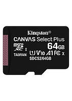 Карта памяти MicroSDXC 64GB UHS-I Class 10 Kingston Canvas Select Plus R100MB/s (SDCS2/64GBSP)