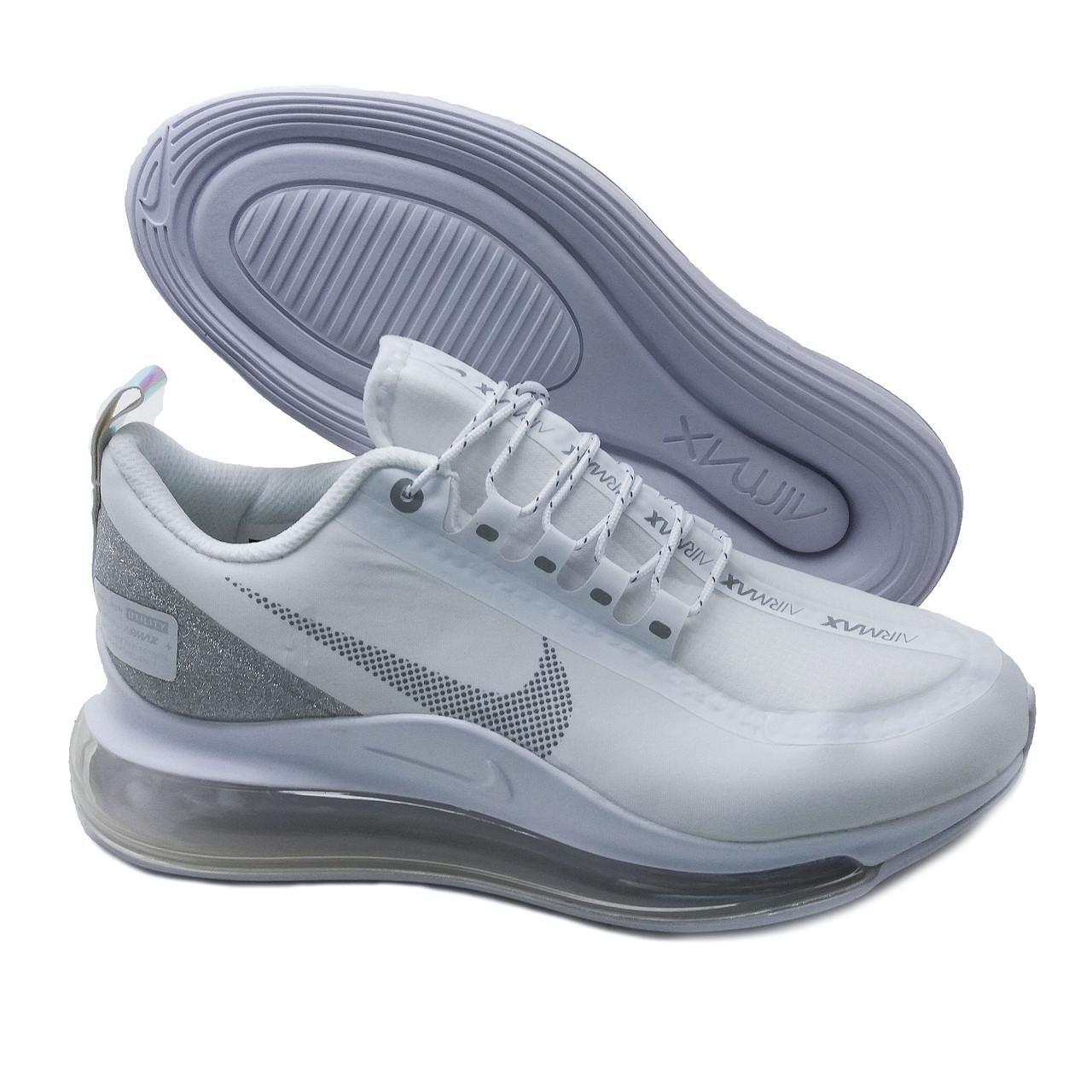 Кроссовки мужские текстильный верх белые гламурные похожие на Nike Air Max Run