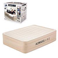 Надувная кровать с встроенным электронасосом Bestway.  Размер ДхШхВ: 203х152х51 см.  Нагрузка: 272 кг